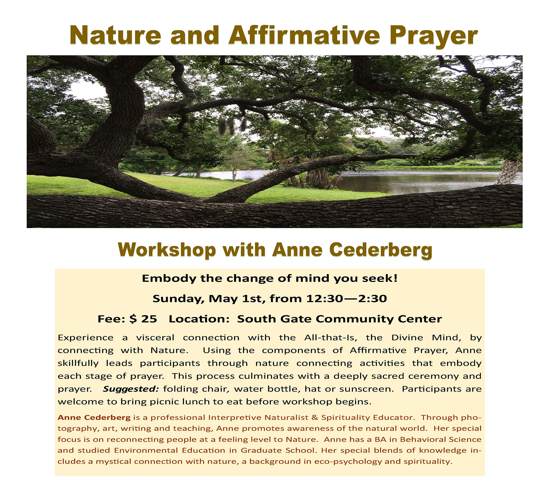Nature and Affirmative Prayer